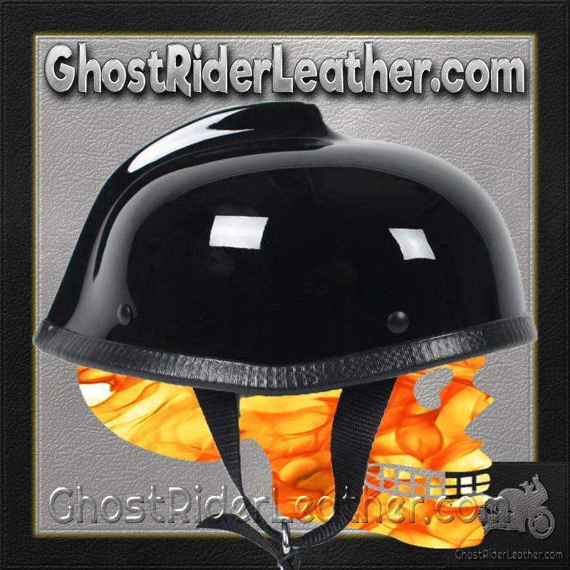 Gladiator Novelty Motorcycle Helmet in Gloss Black / SKU GRL-GLAD-NOV-HI-novelty motorcycle helmet-Ghost Rider Leather