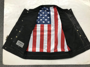 UNIK Men's Vest with USA Flag Liner