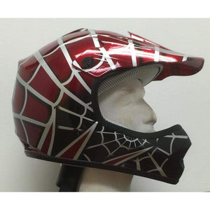 DOT Kids ATV - Dirt Bike - Motocross Helmets - Pink - Black - Blue - Red / SKU GRL-DOTATVKIDSSPIDER-HI-dot motorcycle helmet-Ghost Rider Leather