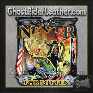 Vietnam Wall - Never Forgotten Vest Patch - Large - SKU GRL-PPA4147-HI-biker patch-Ghost Rider Leather