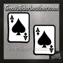 Two Ace of Spades Patches - SKU GRL-PPL9084-X2-HI-biker patch-Ghost Rider Leather