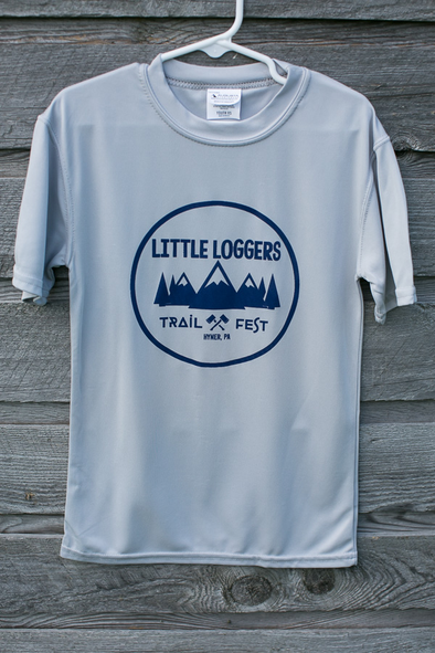 *Little Loggers Trail Fest tech race shirt - grey