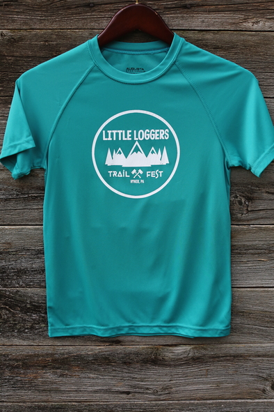 Little Loggers Trail Fest tech race shirt