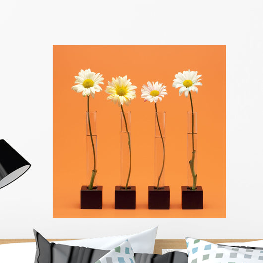 Four Flowers Wall Mural