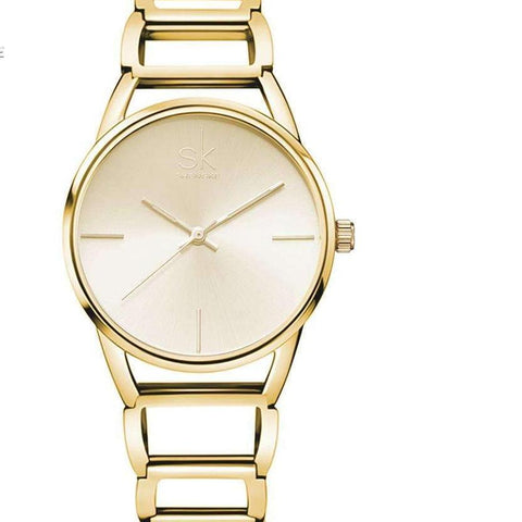 Quality Women Watch Luxury Gold Elegant Top Style - CoventryMall