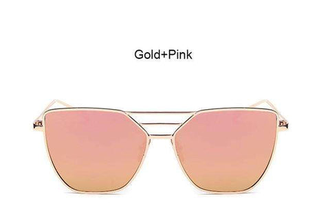 Flat Top Rose Gold Sunglasses - CoventryMall
