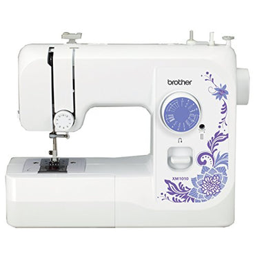 Brother XM1010 with 10 stitches, 4-Step Auto-Size Buttonholer, 4 Sewing', & instructional DVD