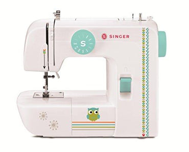 SINGER 1234 Portable Sewing Machine with Free Online Owner's Class and Tote Bag Project, White/Teal