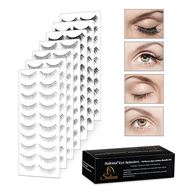 Eye Splashes 70 Pairs False Eye Lashes Bundle - 7 Styles