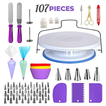 Cake Decorating Supplies Kit, 107 pieces
