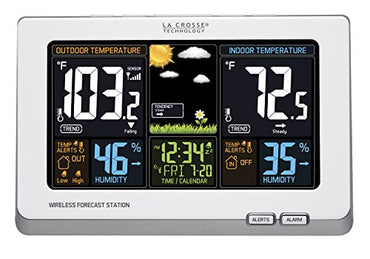 La Crosse Technology 308-1414B Wireless Atomic Digital Color Forecast Station with Alerts