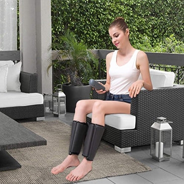 QUINEAR Air Compression Leg Massager for Foot Calf Arm Wrap Massage Therapy for Muscle Circulation with Handheld Controller 2 Modes 3 Intensities