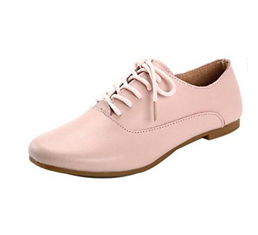5Sheepgs Women Leather Oxford Flats Shoes Moccasins Ballet Flats
