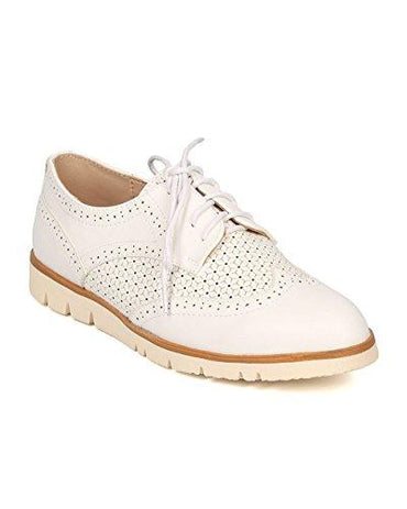 Women Spectator Flat Loafer - Oxford Sneaker - Lug Sole Loafer - GI09 By Nature Breeze