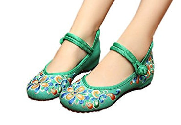 AvaCostume Women's Chinese Embroidery Casual Mary Jane Travel Walking Shoes