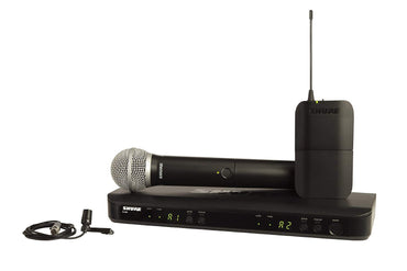 Shure BLX1288/CVL Dual Channel Combo Wireless System with PG58 Handheld and CVL Lavalier Microphones