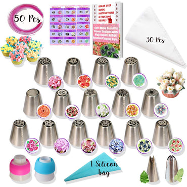RFAQK - 50 Pcs Cupcake decorating Kit supplies