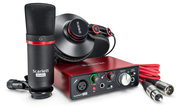 Focusrite Scarlett Solo Studio (2nd Gen) USB Audio Interface and Recording Bundle with Pro Tools
