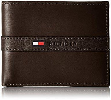Tommy Hilfiger Men's Ranger Leather Passcase Wallet with Removable Card Holder