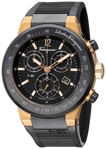 Salvatore Ferragamo Men's F55LCQ75909 S113 F-80 Rose Gold-Plated Watch