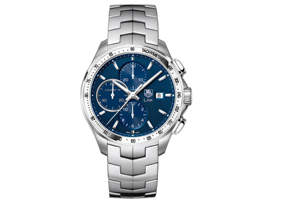 Watch Link Calibre 16 Automatic Chronograph 43 mm Blue
