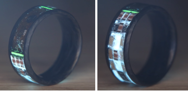 NFC Enabled Smart Ring with Tritium and Forged Carbon Fiber