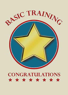 51811a Military Basic Training, Congratulations Gold Star