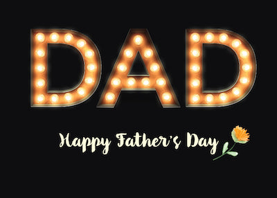 52373BA From All of Us, Dad, Father's Day, Marquee Light Bulb Letters