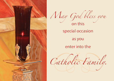 52517 RCIA Congratulations, Catholic, Red Candle