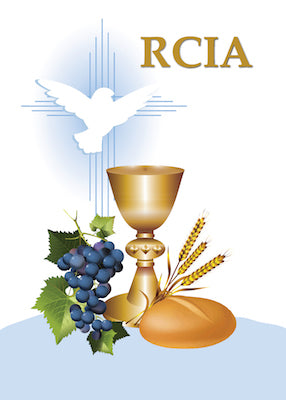 52516 RCIA Congratulations Catholic Sacrament Symbols