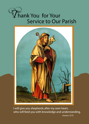 51660 Priest Thank You for Parish Service, Good Shepherd