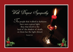 52500 Sympathy At Christmas Lighted Candle