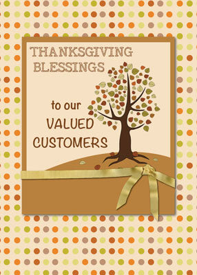 52002B Religious Thanksgiving to Customers Dots and Tree