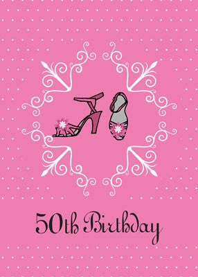 4330 50th Birthday Pink Shoes