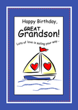3541 Sailboat Great Grandson Religious Birthday