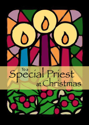 4012 Priest Christmas Candles
