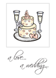 2598 Religious Cake Glasses Wedding Congratulations