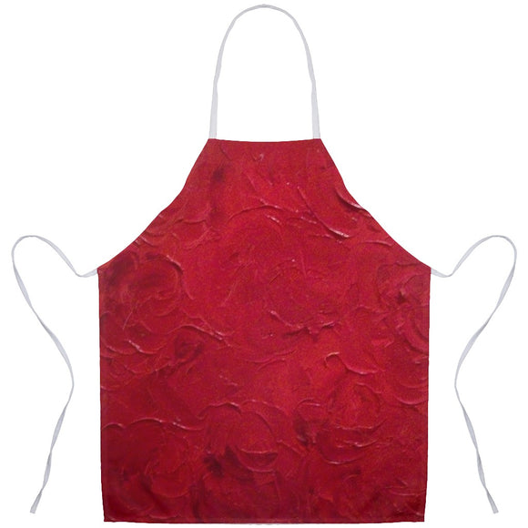 Red Passion Swirl Design - Aprons
