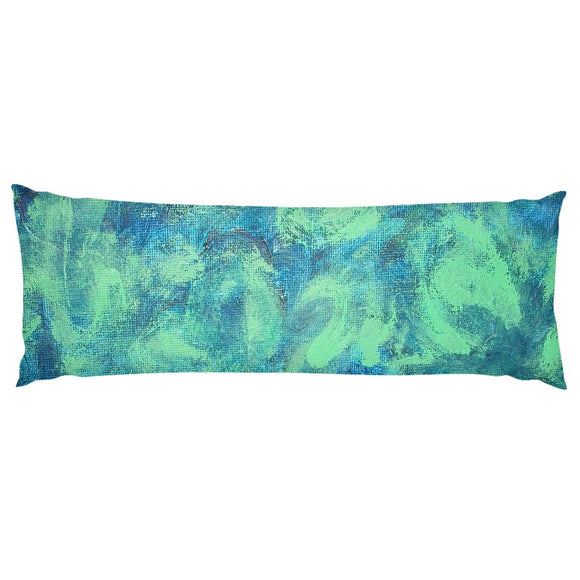 Green Paisley Design - Body Pillows