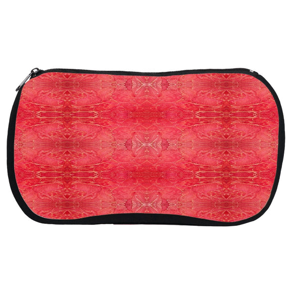 Orange Crackle Design - Cosmetic Bags