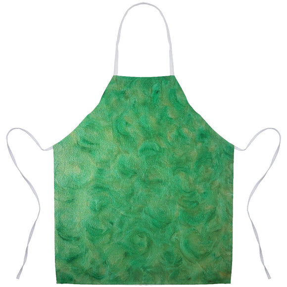 Green Gold Swirl Design - Aprons