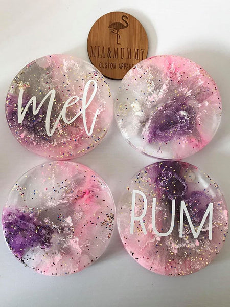 Personalised Coasters-Pastel Galaxy
