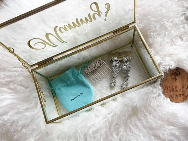 Personalised Glass Jewellery Box