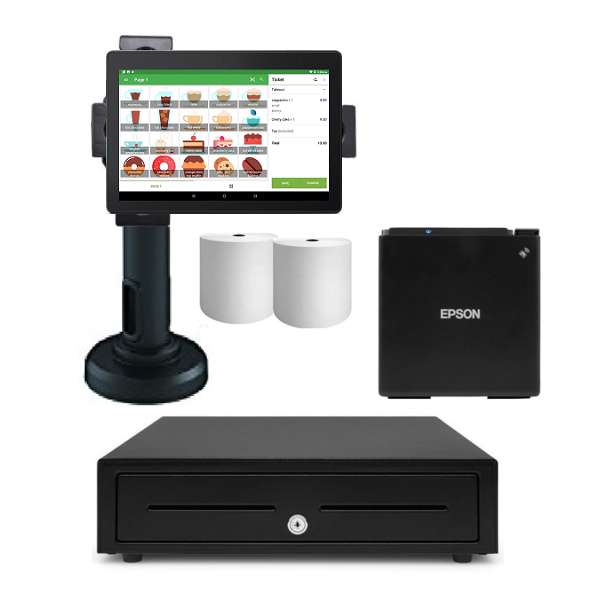 Loyverse Bluetooth POS Hardware with Android Tablet Bundle #9 - Easypos Point of Sale Systems