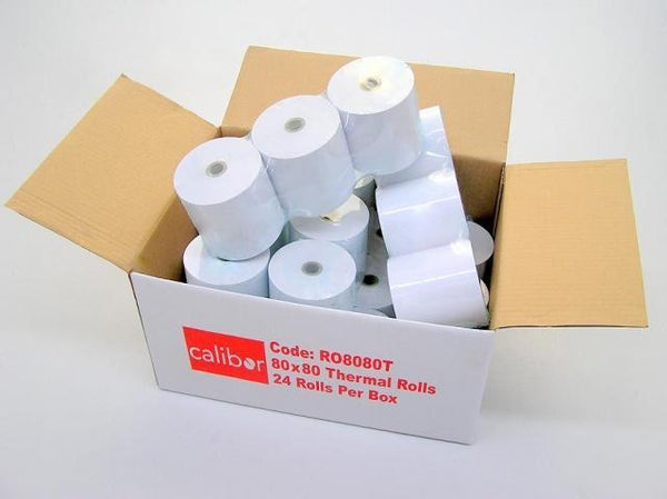 Calibor Thermal Paper Rolls 80x80 Box of 24 - Easypos Point of Sale Systems