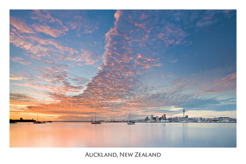 568 - Post Art Postcard - Auckland - Sunrise