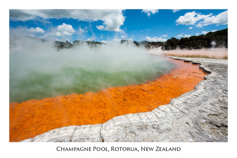 637 - Post Art Postcard - Champagne Pool, Wai-O-Tapu