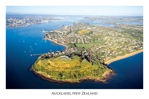 663 - Post Art Postcard - Auckland - aerial from North Head