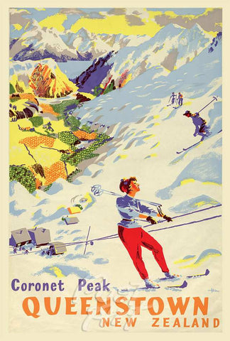 912 - Post Art Postcard - Coronet Peak Vintage