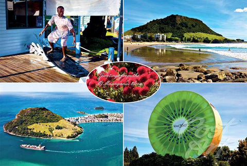 N37 - Post Art Postcard - Mt Maunganui Area